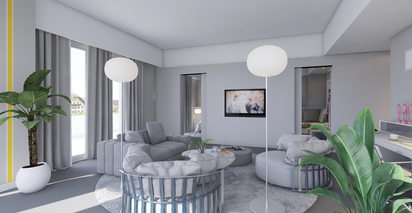 suites Interior Design Render