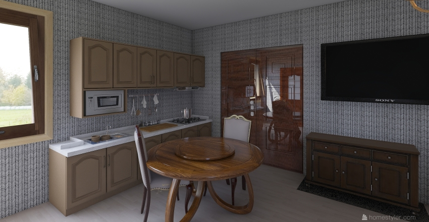 Antique tiny home by C.J (Slixz) Interior Design Render