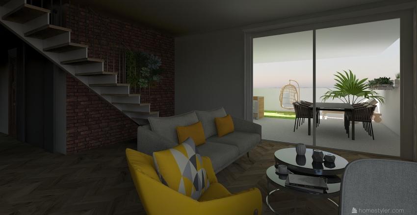 green house Interior Design Render
