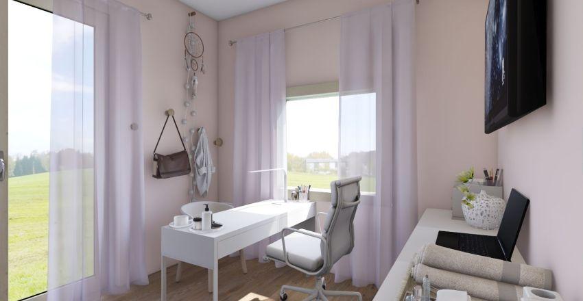Glitter Unicorn Nail Salon Interior Design Render