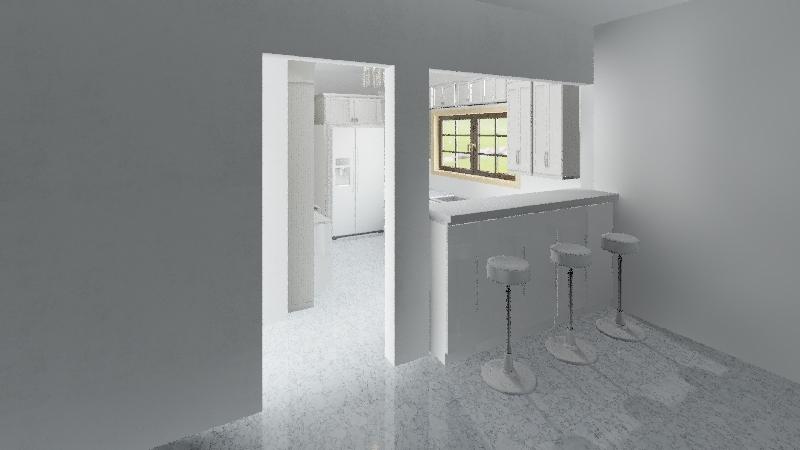 Ellen's Kitchen Interior Design Render