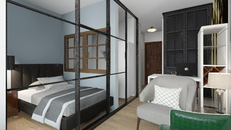 studio 25,5m2 Interior Design Render
