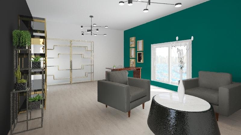 Diseño de mobiliario Interior Design Render
