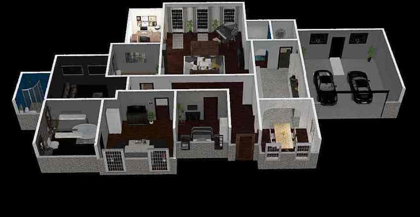 MWashington3BRHouse Interior Design Render