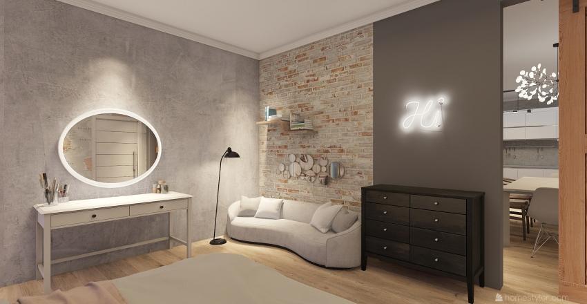 estilo loft simples  Interior Design Render