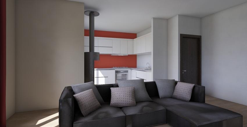 Soggiorno Cottura Interior Design Render