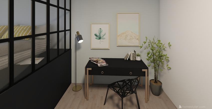Messy room.  Interior Design Render