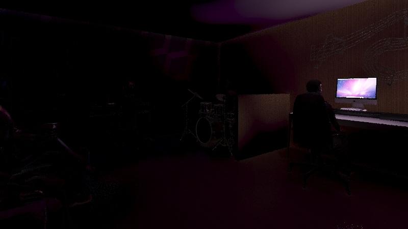 Studio muzyczne Interior Design Render