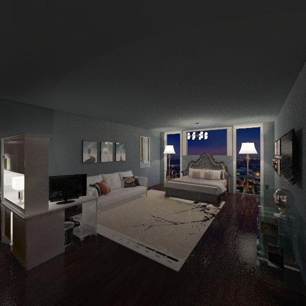 Leslie's Bedroom Interior Design Render