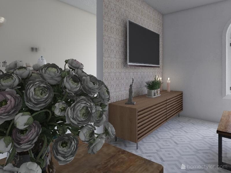pink garden Interior Design Render