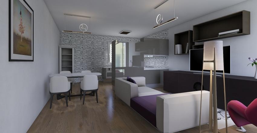 Salón-comedor Interior Design Render
