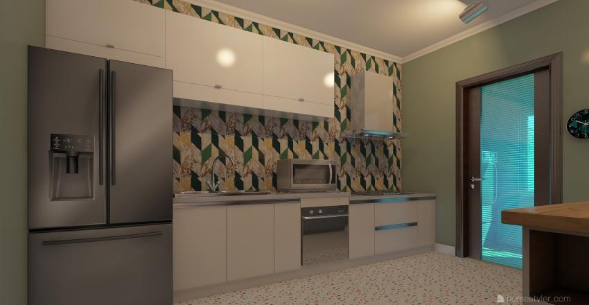 Apt. Coworking Interior Design Render