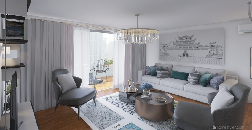small apartament 5 Interior Design Render