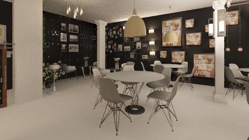 cafee abre Interior Design Render