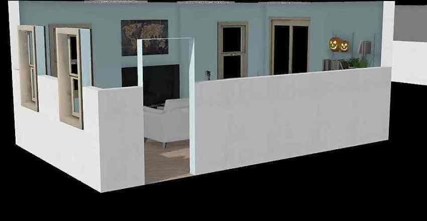 LIVING/MUSIC ROOM Interior Design Render