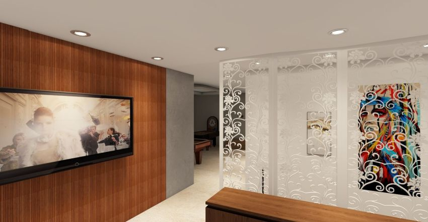 Model House Interior Design Render