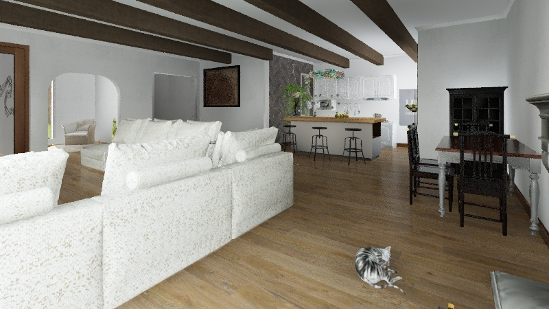 A little French home Interior Design Render