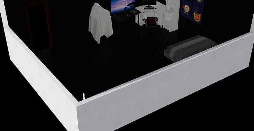 helloween bedroom Interior Design Render