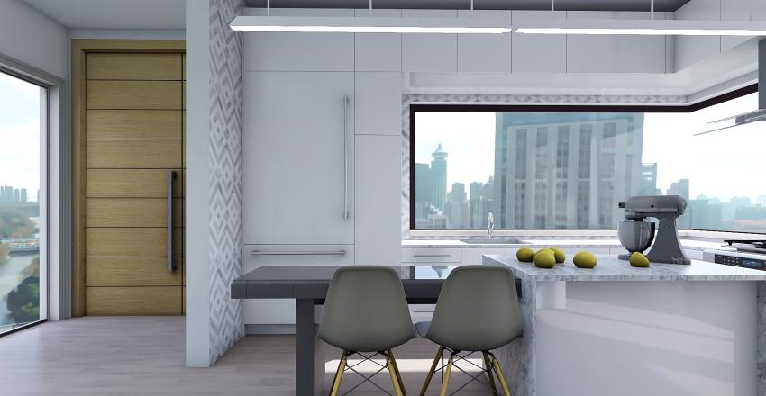 Modern City Apartment Interior Design Render