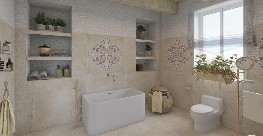 Casa vacacional con patio en Ibiza Interior Design Render