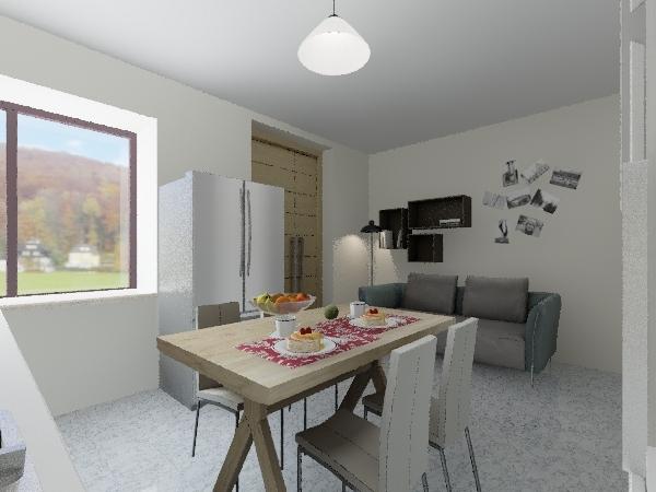 solo cucina_frigo Interior Design Render