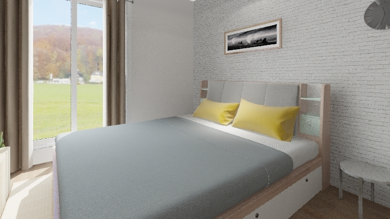 Plan and furniture Interior Design Render