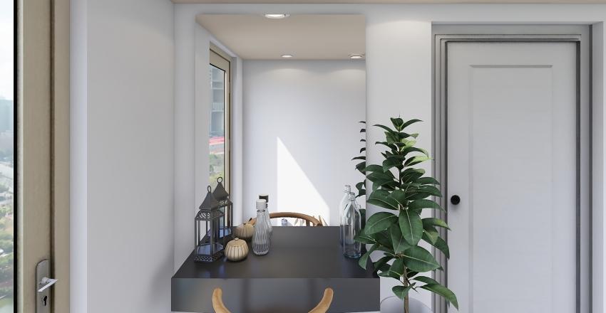 Nordic & Industrial Interior Design Render