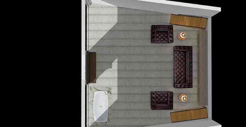 dağ evi Interior Design Render