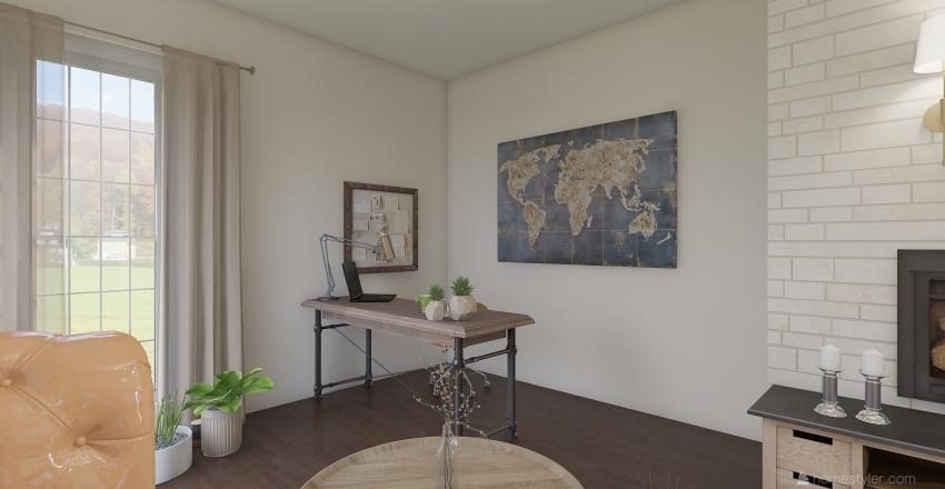 кабинет - интерьер под диван Interior Design Render