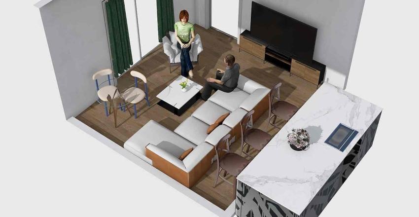 Obývačka 3 Interior Design Render