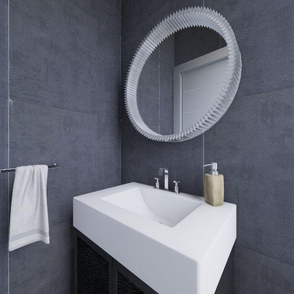 Small toilet ground floor Interior Design Render