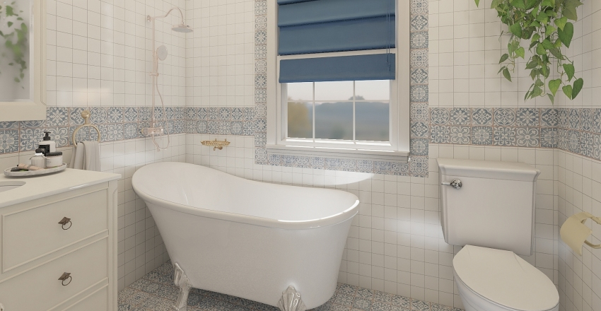Shabby Chic Cottage Interior Design Render
