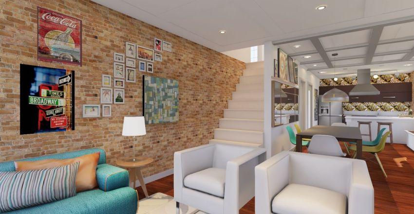 Loft Jovem Brooklyn Interior Design Render