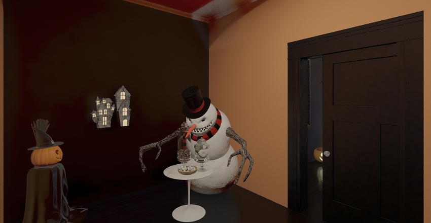 Halloween Interior Design Render