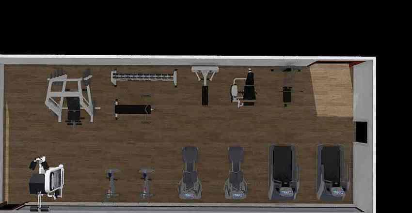 gym ibu ponny Interior Design Render