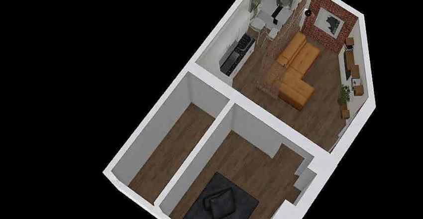 Хата 1 Interior Design Render