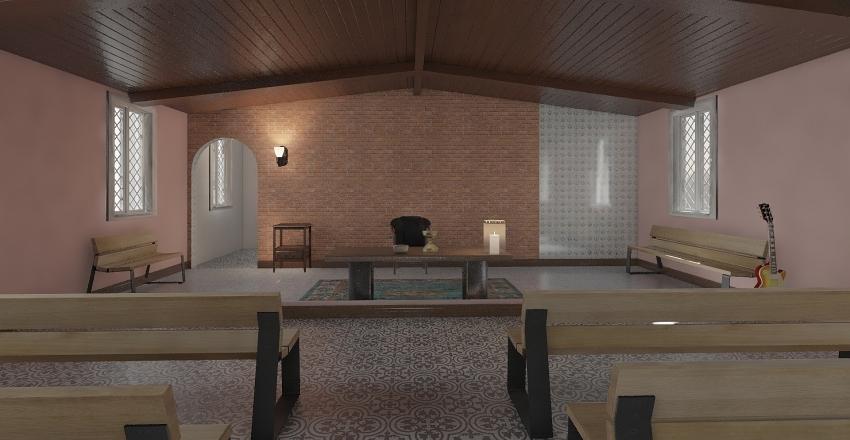 CAPELA salão no fundo Interior Design Render