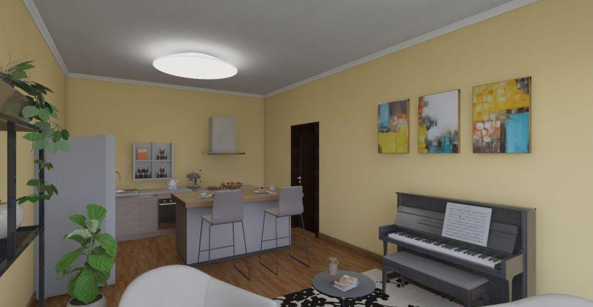 summer flat Interior Design Render