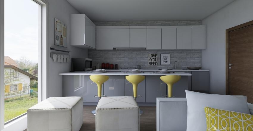 SMALL OPEN AP Interior Design Render