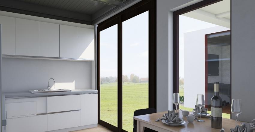 Modern Industrial Home By C.J Interior Design Render