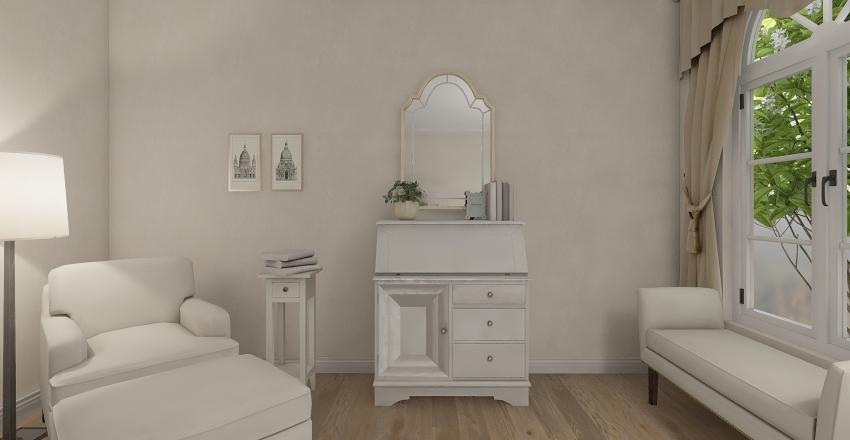 Classic Bedroom Interior Design Render