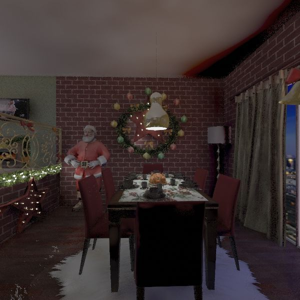 Christmas is coming Interior Design Render