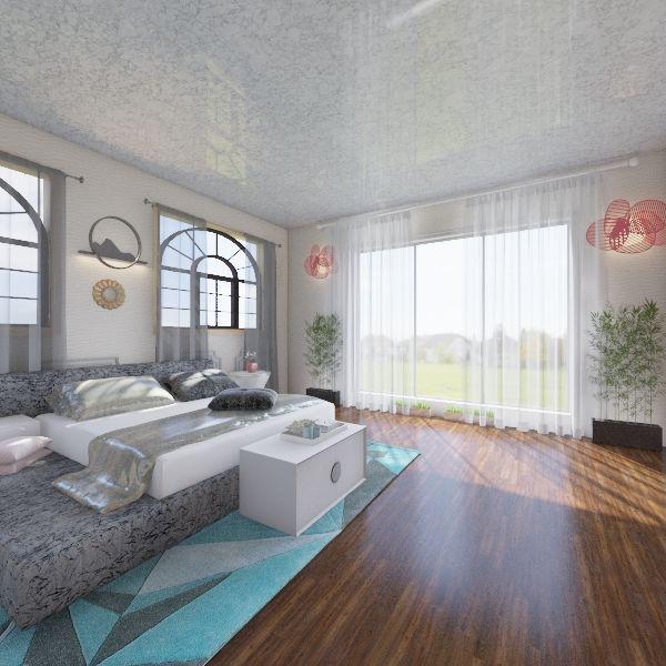 Contemporary Bedroom Interior Design Render