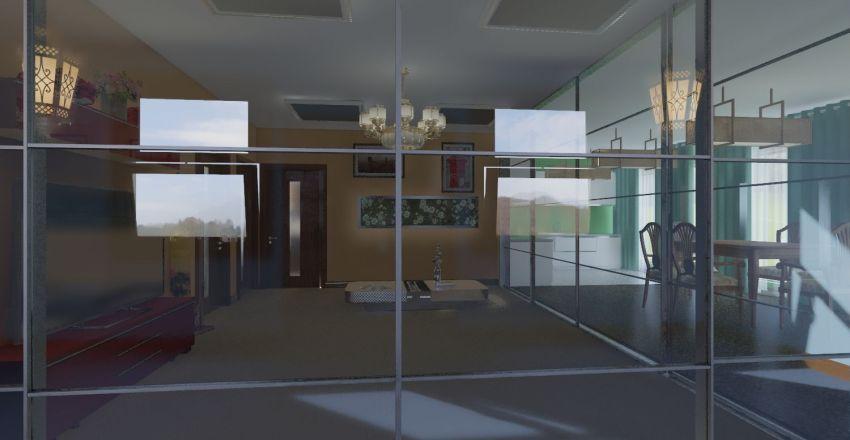 Home balcony Interior Design Render