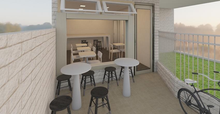 Cafe Terapy Fit Interior Design Render