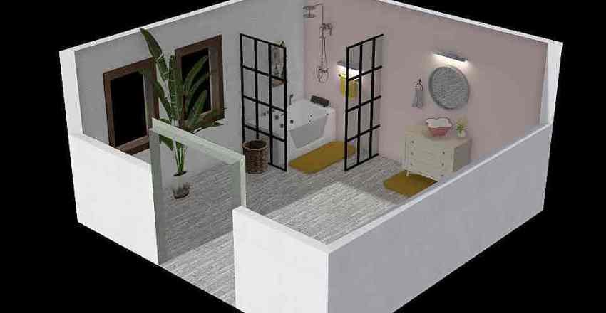 ADA- Blind- Bathroom Interior Design Render