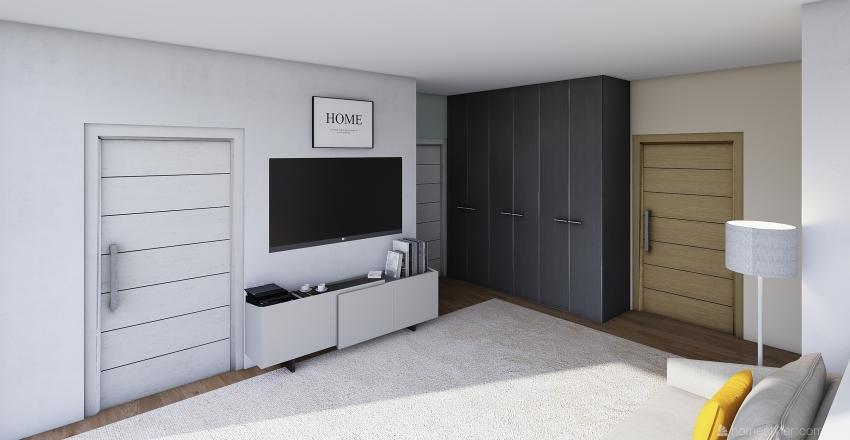one-room studio Interior Design Render