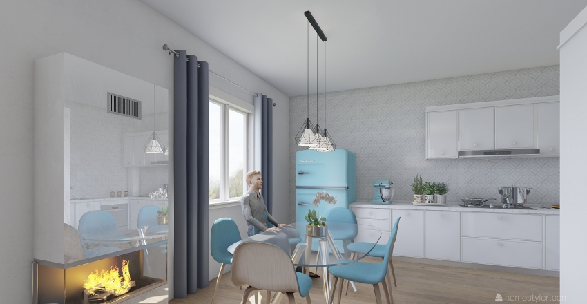 Appartamento 1 Interior Design Render