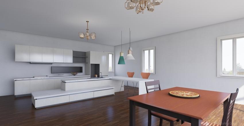 peachy pool paradise Interior Design Render