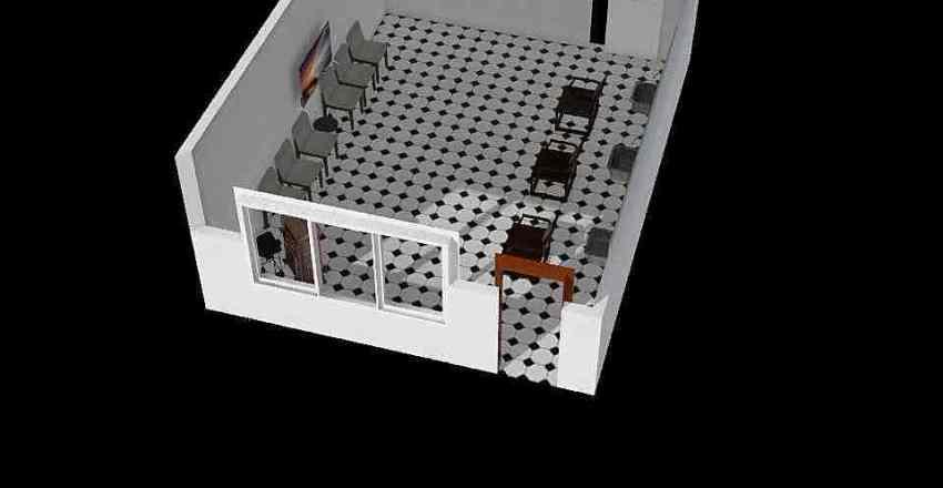 barber shop Interior Design Render